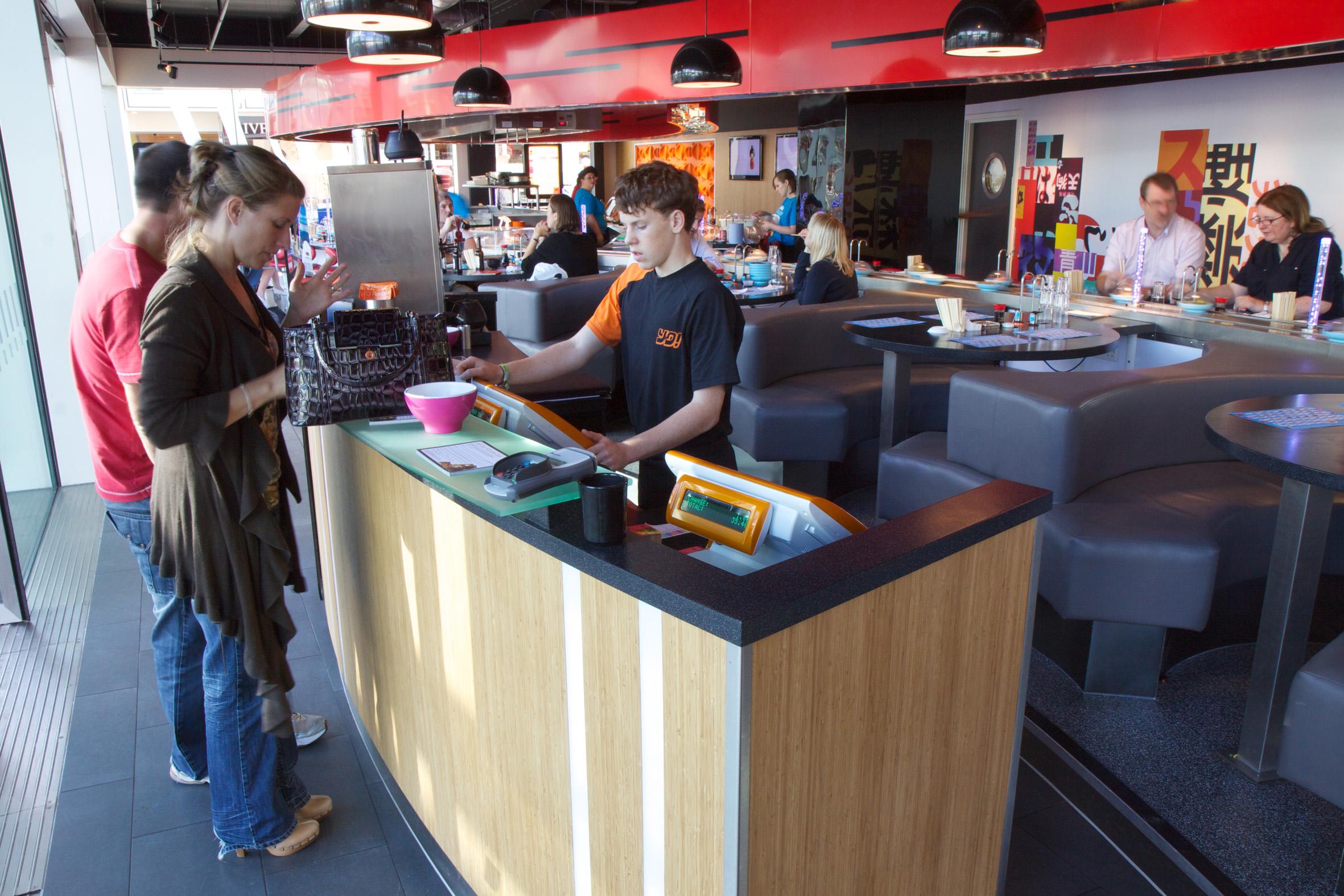 Faktura.Cash Odyssee Systeme im Schnellrestaurant wie z.B. in Vapiano®, Sushi® oder Subway®